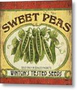Veggie Seed Pack 1 Metal Print by Debbie DeWitt