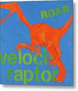 Velociraptor Metal Print by Laurie Breen