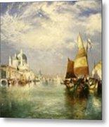 Venetian Grand Canal Metal Print by Thomas Moran