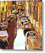 Venice Canal Metal Print by David Lloyd Glover