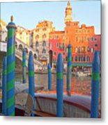 Venice Rialto Bridge Metal Print by Heiko Koehrer-Wagner