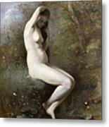 Venus Bathing Metal Print by Jean Baptiste Camille Corot
