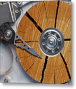 Very Old Hard Disc Metal Print by Michal Boubin