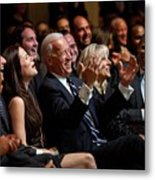 Vice President Joe Biden Flanked Metal Print by Everett