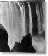 Victoria Falls - C 1911 Metal Print by International  Images
