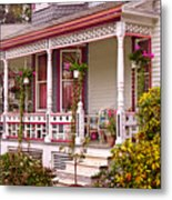 Victorian - Belvidere Nj - The Beauty Of Spring  Metal Print by Mike Savad