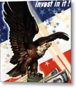 Victory Loan Bald Eagle Metal Print by War Is Hell Store