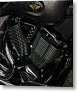 Victory Motorcycle Metal Print by Diane E Berry