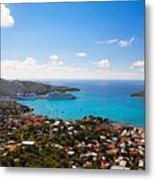 View Of Charlotte Amalie St Thomas Us Virgin Islands Metal Print by George Oze