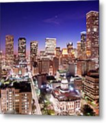 View Of Cityscape Metal Print by jld3 Photography