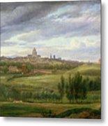 View Of Paris From Butte Aux Cailles Metal Print by Jean Baptiste Gabriel Langlace