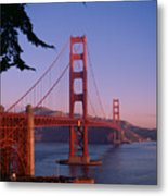 View Of The Golden Gate Bridge Metal Print by American School