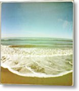View Of Tides In Sea Metal Print by Denise Taylor