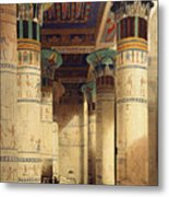 View Under The Grand Portico Metal Print by David Roberts