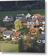 Village Of Residential Homes In Germany Metal Print by Greg Dale
