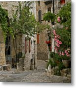Village Walk Metal Print by Joe Bonita