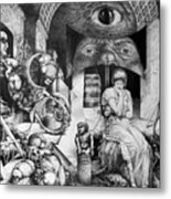 Vindobona Altarpiece IIi - Snakes And Ladders Metal Print by Otto Rapp