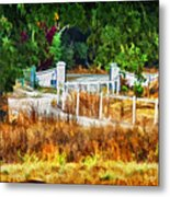 Vineyard Gate Metal Print by Patricia Stalter