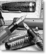 Vintage Fountain Pens Metal Print by Tom Mc Nemar