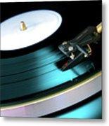 Vinyl Record Metal Print by Carlos Caetano