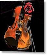 Violin Extreme Metal Print by Marsha Heiken