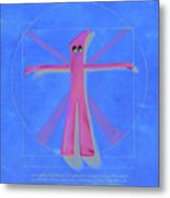 Virtuvian Man Metal Print by Judy Sherman