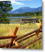 Wagon West Metal Print by Marty Koch