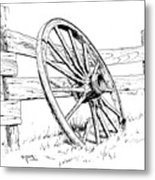 Wagon Wheel Metal Print by Bob Hallmark