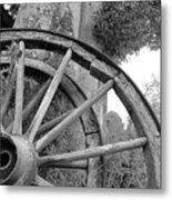 Wagon Wheels Metal Print by Robert Lacy