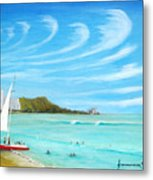 Waikiki Metal Print by Jerome Stumphauzer