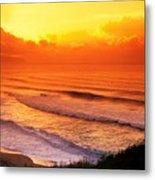 Waimea Bay Sunset Metal Print by Vince Cavataio - Printscapes