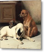 Waiting For Master Metal Print by William Henry Hamilton Trood