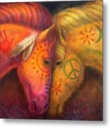 War Horse And Peace Horse Metal Print by Sue Halstenberg