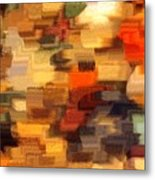 Warm Colors Abstract Metal Print by Carol Groenen