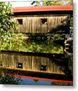 Warner Covered Bridge Metal Print by Greg Fortier