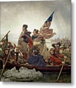 Washington Crossing The Delaware River Metal Print by Emanuel Gottlieb Leutze