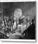 Washington Meeting His Generals Metal Print by War Is Hell Store