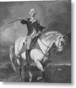 Washington Receiving A Salute At Trenton Metal Print by War Is Hell Store