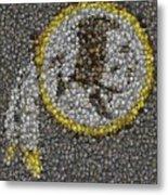 Washington Redskins Coins Mosaic Metal Print by Paul Van Scott