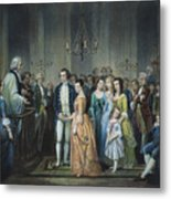 Washingtons Marriage Metal Print by Granger