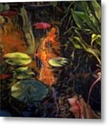 Water Garden Series A Metal Print by Patricia Reed