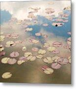 Water Lilies In Schoenbrunn Vienna Austria Metal Print by Julia Hiebaum