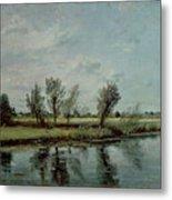 Water Meadows Near Salisbury Metal Print by John Constable