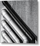 Water Pipes Metal Print by Wim Lanclus