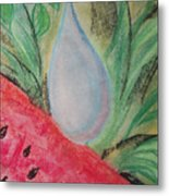 Water Watermelon Metal Print by Aldonia Bailey