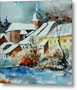 Watercolor Chassepierre Metal Print by Pol Ledent