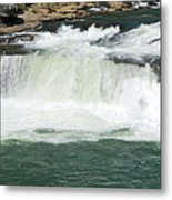Waterfall At Ohiopyle State Park Metal Print by Larry Ricker