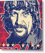 Waylon Jennings Pop Art Metal Print by Jim Zahniser