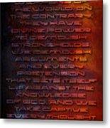 Weapons Metal Print by Shevon Johnson