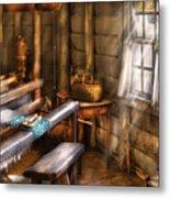 Weaver - The Weavers Room Metal Print by Mike Savad